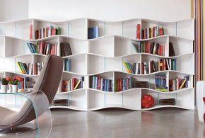 Библиотека bib76331 по индивидуальным размерам на заказ, материалы из лдсп мдф расцветка — белый в интернет магазине mebelblok.ru