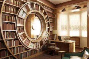 Библиотека bib26461 по индивидуальным размерам на заказ, материалы из дерева лдсп мдф расцветка — бежевый в интернет магазине mebelblok.ru