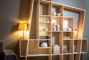 Библиотека bib54476 по индивидуальным размерам на заказ, материалы из лдсп мдф расцветка — бежевый в интернет магазине mebelblok.ru