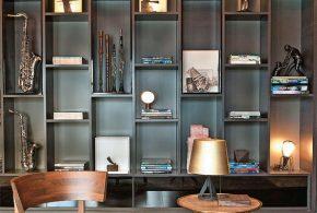 Библиотека bib32882 по индивидуальным размерам на заказ, материалы из лдсп мдф расцветка — черный в интернет магазине mebelblok.ru