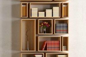 Библиотека bib18846 по индивидуальным размерам на заказ, материалы из лдсп мдф расцветка — бежевый в интернет магазине mebelblok.ru