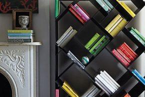 Библиотека bib52035 по индивидуальным размерам на заказ, материалы из лдсп мдф расцветка — черный в интернет магазине mebelblok.ru