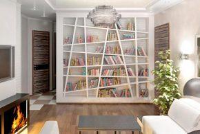 Библиотека bib39338 по индивидуальным размерам на заказ, материалы из лдсп мдф расцветка — серый в интернет магазине mebelblok.ru