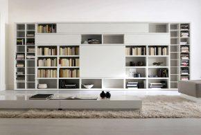 Библиотека bib54475 по индивидуальным размерам на заказ, материалы из лдсп мдф расцветка — белый в интернет магазине mebelblok.ru