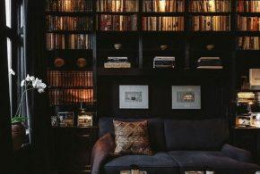 Библиотека bib84027 по индивидуальным размерам на заказ, материалы из дерева лдсп мдф расцветка — черный в интернет магазине mebelblok.ru