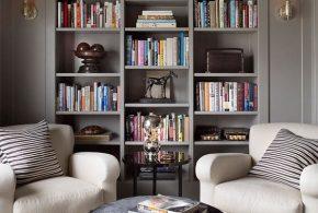Библиотека bib94684 по индивидуальным размерам на заказ, материалы из лдсп мдф расцветка — серый в интернет магазине mebelblok.ru