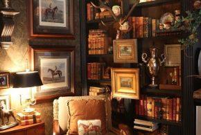 Библиотека bib12525 по индивидуальным размерам на заказ, материалы из дерева лдсп мдф расцветка — коричневый в интернет магазине mebelblok.ru