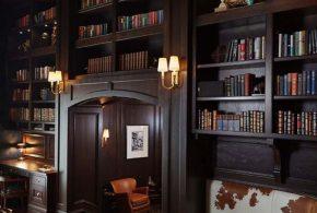 Библиотека bib35771 по индивидуальным размерам на заказ, материалы из дерева лдсп мдф расцветка — коричневый в интернет магазине mebelblok.ru