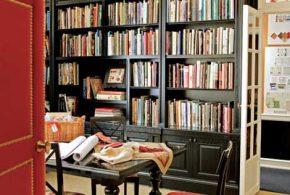 Библиотека bib46283 по индивидуальным размерам на заказ, материалы из дерева лдсп мдф расцветка — черный в интернет магазине mebelblok.ru