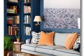 Библиотека bib38187 по индивидуальным размерам на заказ, материалы из лдсп мдф расцветка — синий в интернет магазине mebelblok.ru