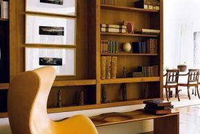 Библиотека bib57874 по индивидуальным размерам на заказ, материалы из лдсп мдф расцветка — коричневый в интернет магазине mebelblok.ru