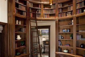 Библиотека bib18176 по индивидуальным размерам на заказ, материалы из дерева лдсп мдф расцветка — коричневый в интернет магазине mebelblok.ru