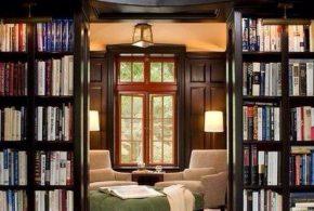 Библиотека bib73645 по индивидуальным размерам на заказ, материалы из дерева лдсп мдф расцветка — коричневый в интернет магазине mebelblok.ru