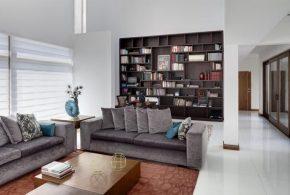 Библиотека bib26646 по индивидуальным размерам на заказ, материалы из лдсп мдф расцветка — коричневый в интернет магазине mebelblok.ru