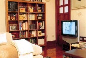 Библиотека bib78947 по индивидуальным размерам на заказ, материалы лдсп расцветка — коричневый в интернет магазине mebelblok.ru
