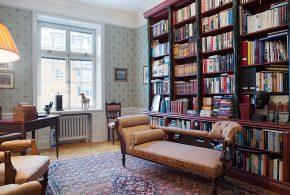 Библиотека bib80922 по индивидуальным размерам на заказ, материалы из дерева лдсп мдф расцветка — коричневый в интернет магазине mebelblok.ru