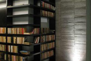 Библиотека bib27083 по индивидуальным размерам на заказ, материалы из лдсп мдф расцветка — черный в интернет магазине mebelblok.ru