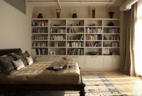 Библиотека bib17322 по индивидуальным размерам на заказ, материалы из лдсп мдф расцветка — бежевый в интернет магазине mebelblok.ru