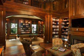 Библиотека bib43210 по индивидуальным размерам на заказ, материалы из дерева лдсп мдф расцветка — коричневый в интернет магазине mebelblok.ru
