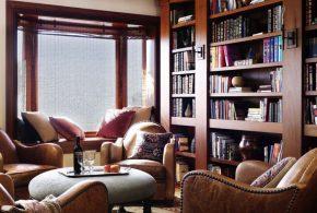 Библиотека bib62746 по индивидуальным размерам на заказ, материалы из дерева лдсп мдф расцветка — коричневый в интернет магазине mebelblok.ru