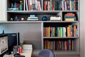 Библиотека bib51568 по индивидуальным размерам на заказ, материалы из лдсп мдф расцветка — серый в интернет магазине mebelblok.ru