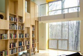 Библиотека bib81774 по индивидуальным размерам на заказ, материалы из лдсп мдф расцветка — бежевый в интернет магазине mebelblok.ru