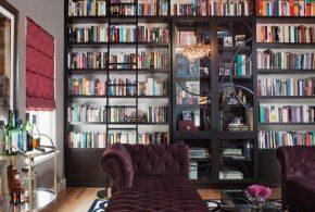 Библиотека shk86289 по индивидуальным размерам на заказ, материалы из дерева лдсп мдф стекла расцветка — коричневый в интернет магазине mebelblok.ru