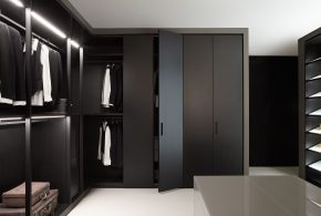 Гардеробная gar41732по индивидуальным размерам на заказ, материалы из лдсп мдф расцветка — черный в интернет магазине mebelblok.ru
