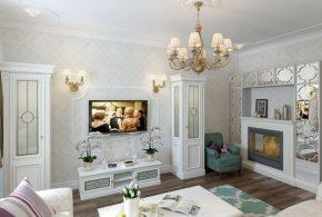 Гостинная gos19160по индивидуальным размерам на заказ, материалы из лдсп мдф стекла расцветка — белый в интернет магазине mebelblok.ru