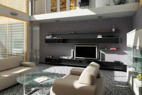 Гостинная gos21563по индивидуальным размерам на заказ, материалы из лдсп мдф расцветка — черный в интернет магазине mebelblok.ru