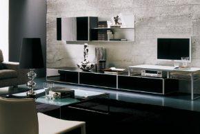 Гостинная gos83859по индивидуальным размерам на заказ, материалы из лдсп мдф расцветка — черный в интернет магазине mebelblok.ru