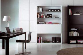 Кабинет kab52577по индивидуальным размерам на заказ, материалы из лдсп мдф расцветка — черно-белый белый черный в интернет магазине mebelblok.ru
