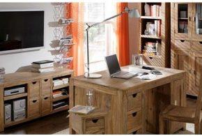 Кабинет kab23527 по индивидуальным размерам на заказ, материалы из дерева лдсп мдф расцветка — коричневый в интернет магазине mebelblok.ru