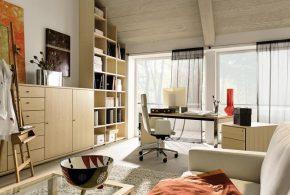 Кабинет kab19604по индивидуальным размерам на заказ, материалы из лдсп мдф расцветка — бежевый в интернет магазине mebelblok.ru