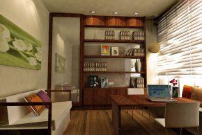 Кабинет kab32529 по индивидуальным размерам на заказ, материалы из дерева лдсп мдф стекла расцветка — коричневый в интернет магазине mebelblok.ru