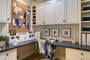 Кабинет kab43073 по индивидуальным размерам на заказ, материалы из дерева лдсп мдф расцветка — синий белый в интернет магазине mebelblok.ru