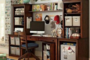 Кабинет kab82194 по индивидуальным размерам на заказ, материалы из дерева лдсп мдф расцветка — коричневый в интернет магазине mebelblok.ru