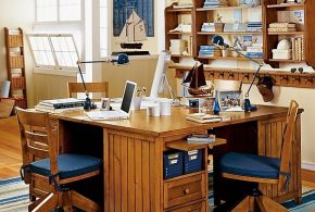 Кабинет kab45926 по индивидуальным размерам на заказ, материалы из дерева лдсп мдф расцветка — коричневый в интернет магазине mebelblok.ru