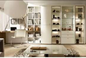 Кабинет kab29405по индивидуальным размерам на заказ, материалы из лдсп мдф расцветка — бежевый белый в интернет магазине mebelblok.ru
