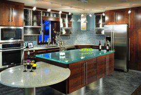 Островная кухня по индивидуальным размерам на заказ фасады из массива дерева лдсп мдф стекла фасад пленки kuh73962