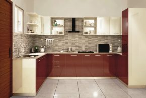 П-образная кухня по индивидуальным размерам на заказ фасады из мдф эмали фасад пленки kuh95287