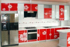 Угловая кухня по индивидуальным размерам на заказ фасады из мдф эмали фасад пленки kuh90333