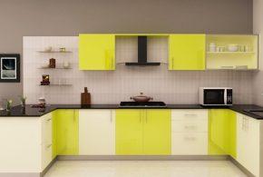 П-образная кухня по индивидуальным размерам на заказ фасады из лдсп мдф стекла эмали фасад пленки kuh35128