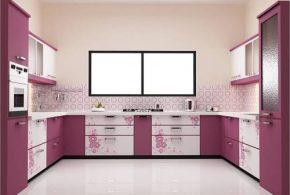 П-образная кухня по индивидуальным размерам на заказ фасады из лдсп мдф стекла эмали фасад пленки kuh73951