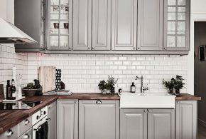 Угловая кухня по индивидуальным размерам на заказ фасады из массива дерева мдф стекла эмали фасад пленки kuh50022