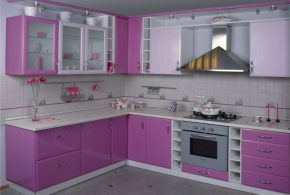 Угловая кухня по индивидуальным размерам на заказ фасады из мдф пластика стекла эмали фасад пленки kuh43197