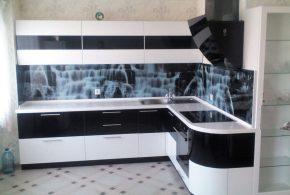 Угловая кухня по индивидуальным размерам на заказ фасады из мдф эмали фасад пленки kuh69843