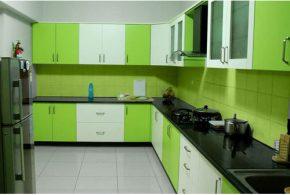 Угловая кухня по индивидуальным размерам на заказ фасады из мдф пластика стекла эмали фасад пленки kuh61208