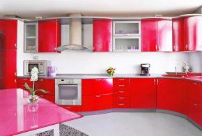 Угловая кухня по индивидуальным размерам на заказ фасады из мдф пластика стекла эмали фасад пленки kuh71908