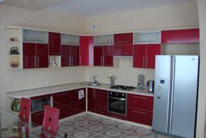 Угловая кухня по индивидуальным размерам на заказ фасады из мдф стекла эмали фасад пленки kuh41334